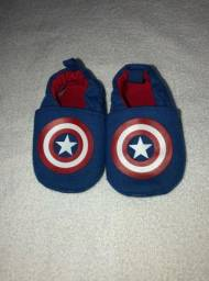 Título do anúncio: Sapatinho bebê 3-6 meses Capitão América