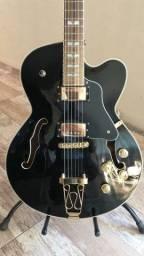 Guitarra semi acústica hofma