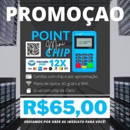 Título do anúncio: Maquina de Cartao (ACOMPANHA CHIP 3G E INTERNET GRÁTIS).