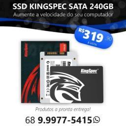SSD kingSpec SATA de 240GB (Novo, lacrado, pronta entrega)