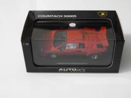 Carro de Autorama - Lamborghini Countach - Autoart - Novo - na caixa