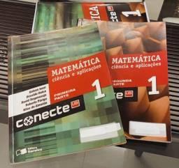 Box de livros Conecte Matemática 1 e ciência e aplicações