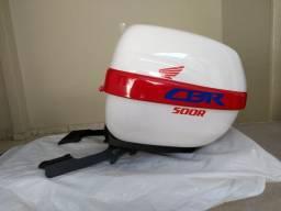 Baú 30 l - Personalizado para Moto CBR500R - Branca com Suporte