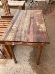 Título do anúncio: Mesa de madeira de demolição
