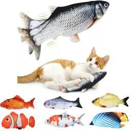 Peixe Elétrico Brinquedo Interativo para Gatos