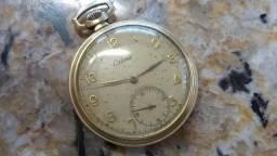 Relógio de Bolso Suíço Certina 15 Jewels Swiss - Plaque Or G - 20 Micron - Anos 50
