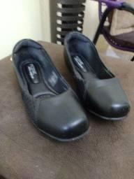 Sapato baixo modare em couro preto 34
