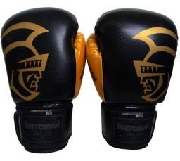 Luva Muay Thai Luva Boxe Pretorian Black line Profissional Promoção Somos Loja