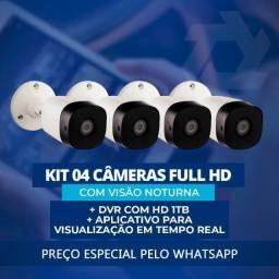 Kit completo CFTV 4 Cameras Full HD