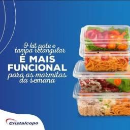 Título do anúncio: pote comida fitness cristalcopo todos os tamos