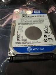 HD de 500GB de notebooks (leia o anúncio)