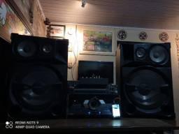 """Som Profissional Home Setup Studio. """" Mesa de Som + Equalizador + Sony Shake 7 + Celular """""""