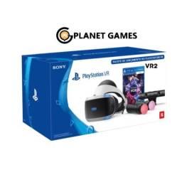 Playstation vr bundle completo world's, movie +jogo