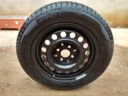 Pneu Pirelli P6 Roda Original Wolks 185/60/14 95% de Borracha