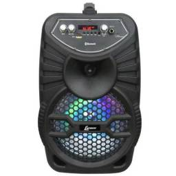 Caixa de som Amplificada Portátil Bluetooth/usb/sd/ CA-100 120w Bivolt - Lenoxx