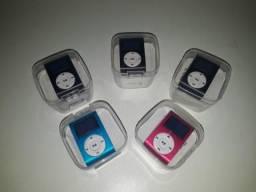 MP3 Player Mini Shuffler, Rádio Fm, Tela Lcd Entrada Cartão Memoria MicroSD