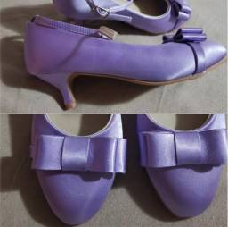 Sapato cetim acolchoado 33 novo