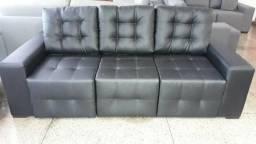 Lindo sofa 03 mudulos retratil em tecido impermeavel