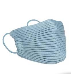 Máscara de tricô canelada , simples e com brilho !