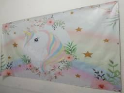 Painel unicórnio decoração 2mx1m