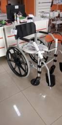 Cadeira De Banho Com Rodas Rg Jaguaribe Cap. 100 Kgs