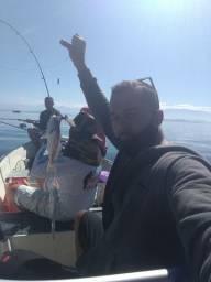 Pescaria na Bahia de guanabara marque já a sua