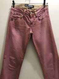 Calça jeans colorida john john