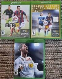 Fifa para XBox One - 2015, 2016, 2018 (importados)