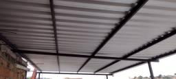 Telhado Metálico com telha galvalume comum