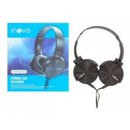 (WhatsApp) fone de ouvido headset - com fio - inova - fon-2243d