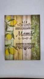 Quadro de pinus restaurante da mamãe