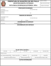 Emissão de nota fiscal de serviço
