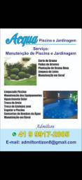 Manutenção de piscina e jardim
