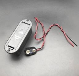 Caixa box Bateria 9v + Conector