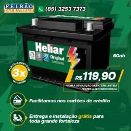 Título do anúncio: Bateria de Qualidade Heliar 60 Amperes com Garantia! Uno