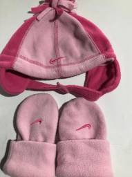 Título do anúncio: Conjunto de luvas e touca menina tamanho 1 a 3 anos