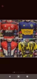 Kit c/ 10 camisas de futebol