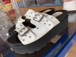 Sandálias papete plataforma