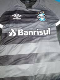 Camisa Grêmio Umbro Treino 2017 Grafite Preto Tamanho GG 7662e7f974712