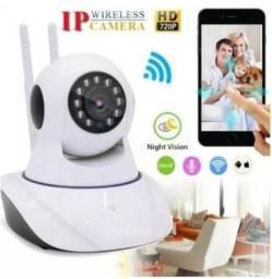 Câmera IP Wifi 720P HD - dispensa cabo e dvr + 90 dias de garantia