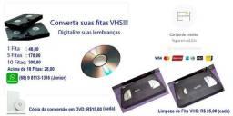VHS para DVD - Conversão Digitalização