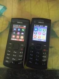 2 Celular Nokia X1 com todos acessórios e funcionando