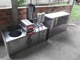 Equipamento de churros e crepes completo p/ kangoo