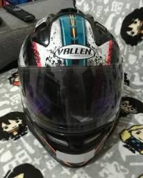 Barbada - Belo capacete Feminino Vallen tamanho 56 - Semi-Novo