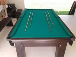Mesa Madeira Semi Cor Preta Tecido Verde Mod. PBMW0384