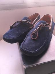 b28e534695b Mocassim MrFoot azul couro nobuck tamanho 40 novo