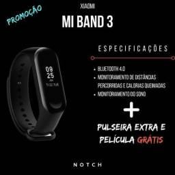 Promoção Xiaomi MI Band 3 + Pulseira Extra E Película Grátis