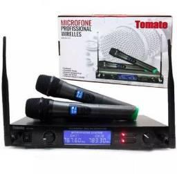 Microfone Profisional Uhf Sem Fio Redução De Ruido 50m MT2202, pronta entrega