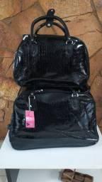 Kit mala de rodinha de 23 kg mais mala de mão de 10 kg