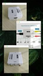 *Conversor HDMI para AV RCA (Serve também para usar Tv Box em Tv de Tubo)*